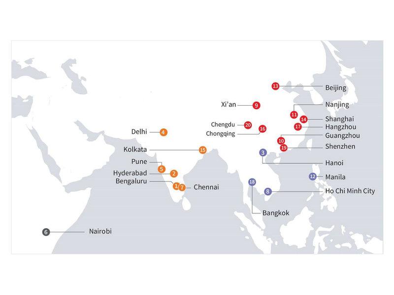 Weltweite Top 20: Diese Städte wachsen am schnellsten
