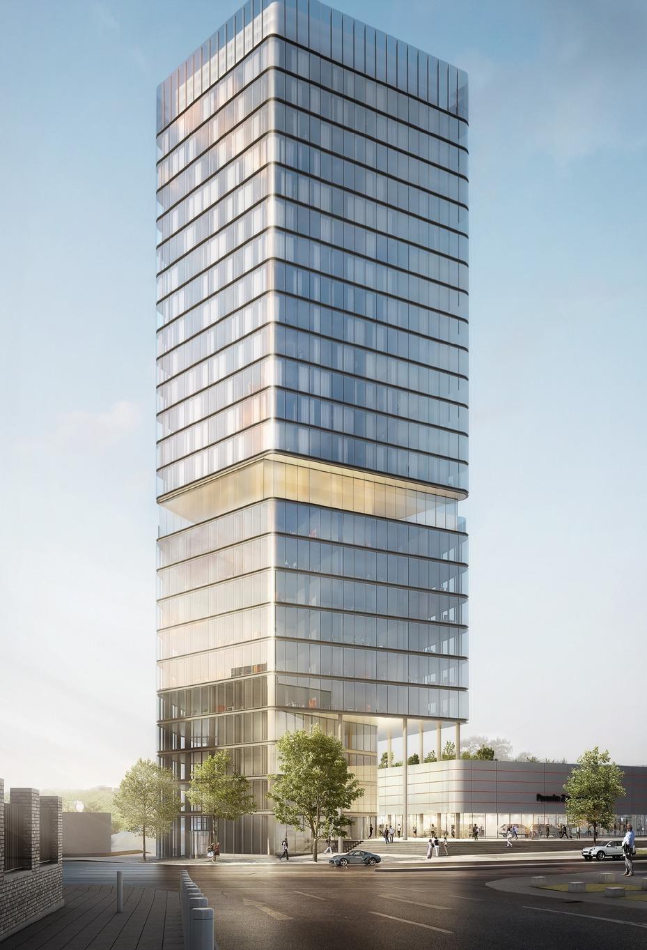 Porsche Design Tower am Stuttgarter Pragsattel geplant